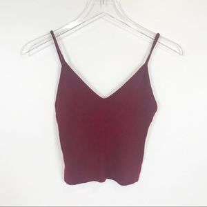 Brandy Melville wine red crop top